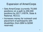 expansion of americorps
