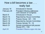 how a bill becomes a law really fast
