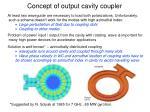 concept of output cavity coupler