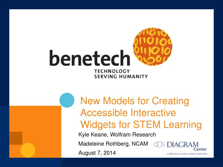 new models for creating accessible interactive widgets for stem learning n.