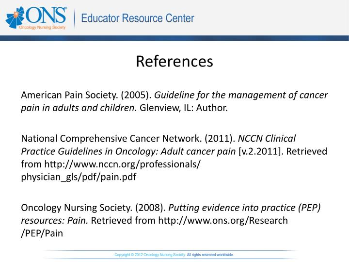cancer pain management guidelines pdf