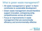 what is green waste management