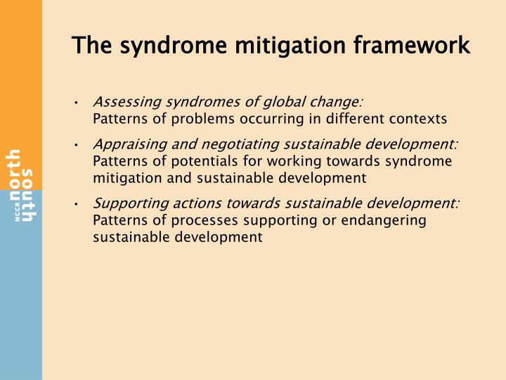The syndrome mitigation framework
