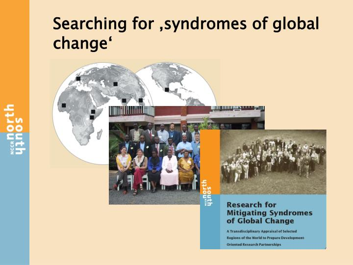 Searching for 'syndromes of global change'