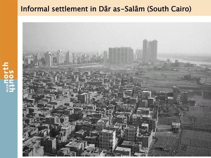 Informal settlement in Dâr as-Salâm (South Cairo)