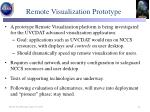 remote visualization prototype