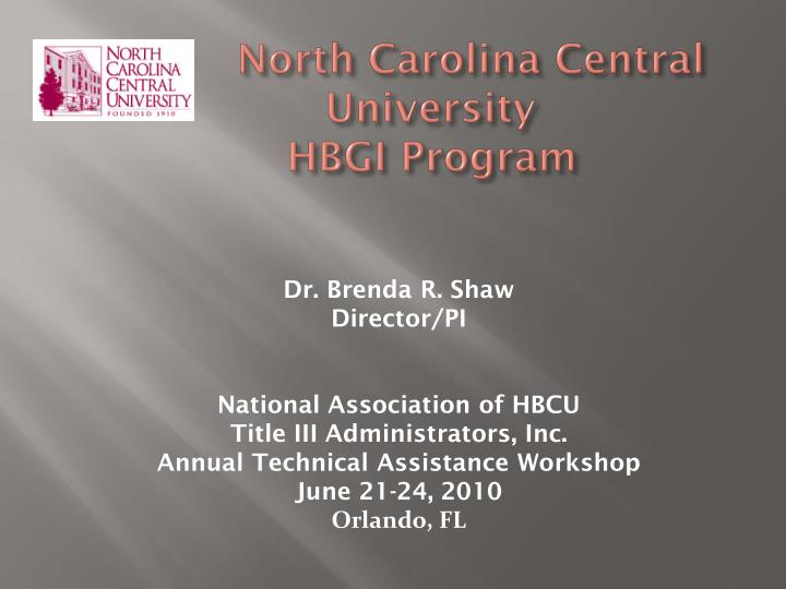 north carolina central university hbgi program n.