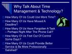 why talk about time management technology