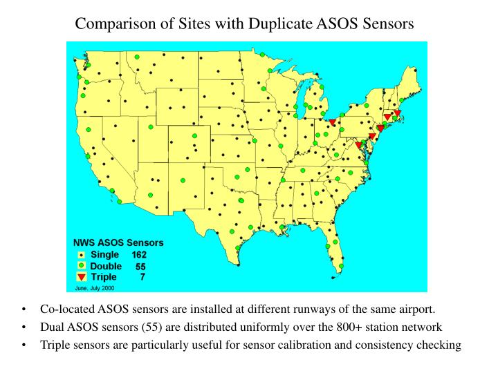 Comparison of Sites with Duplicate ASOS Sensors
