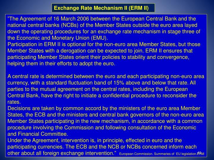 Exchange Rate Mechanism II (ERM II)
