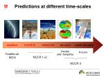 predictions at different time scales