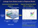 linkage from global model to regional model