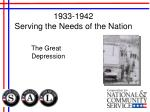 1933 1942 serving the needs of the nation1