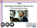 1964 domestic volunteer service act