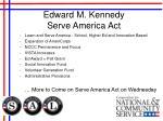 edward m kennedy serve america act