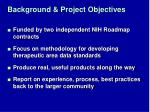 background project objectives