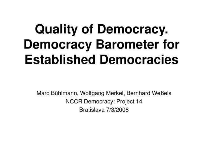 free enterprise as one inherent quality of democracy For example, that democracy is the form of government that best protects hu- man rights because it is the only one based on a recognition of the intrinsic worth and equality of human beings.