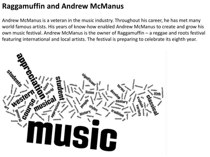 Raggamuffin and Andrew McManus