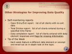 other strategies for improving data quality