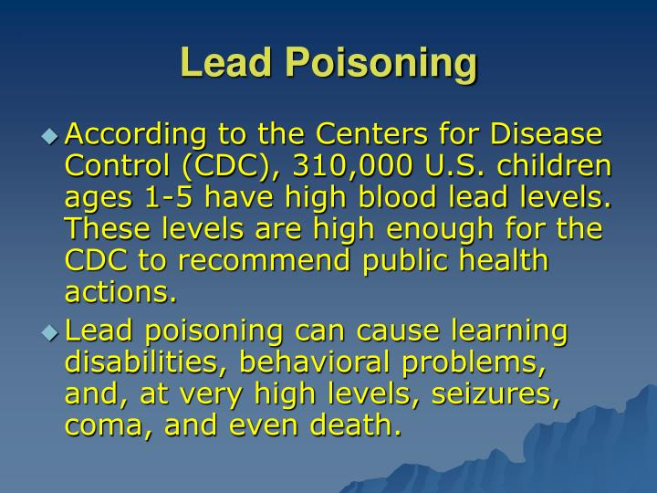 the causes of lead poisoning in the united states Poor appetite poisoning definition poisoning occurs when any substance interferes with normal body functions after it is swallowed including the causes of lead.
