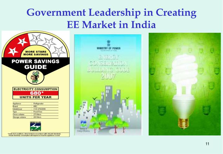 Government Leadership in Creating EE Market in India