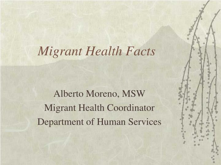 migrant health facts n.