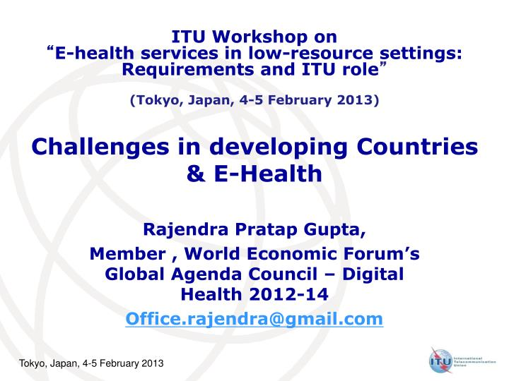 Challenges in developing countries e health