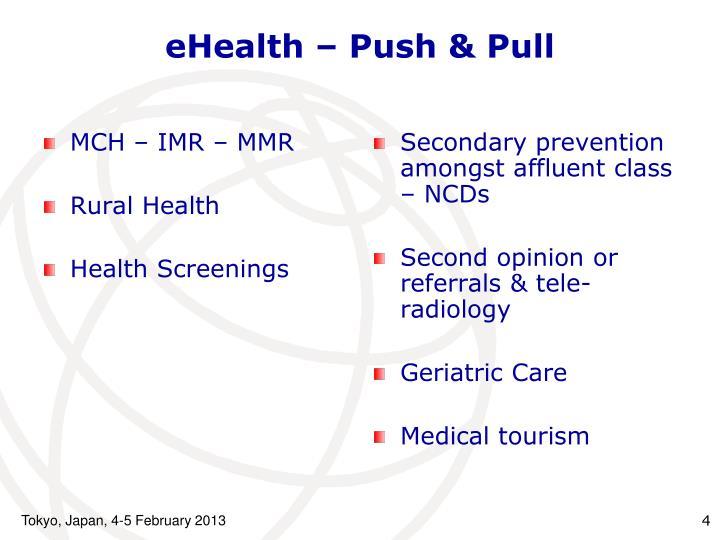 eHealth – Push & Pull