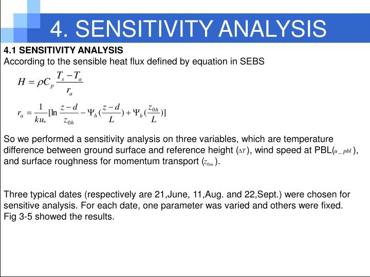 4. SENSITIVITY ANALYSIS