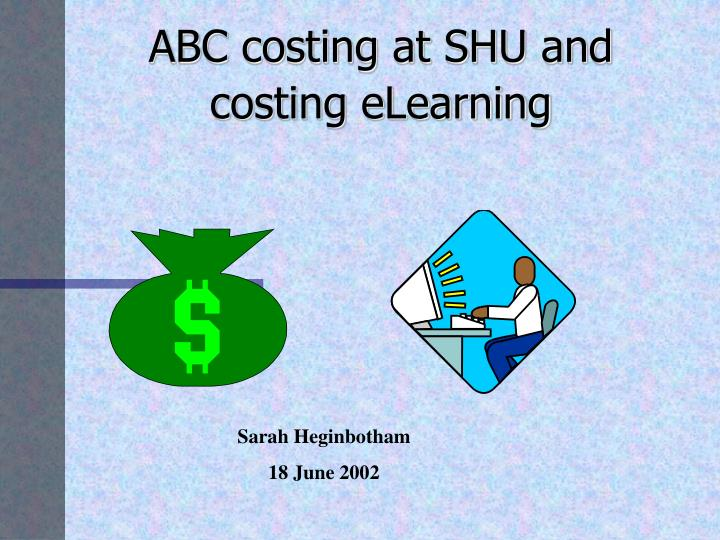 abc costing in banking Activity-based costing (abc) is a costing methodology that identifies activities in an organization and assigns the cost of each activity with resources to all products and services according to the actual consumption by each.