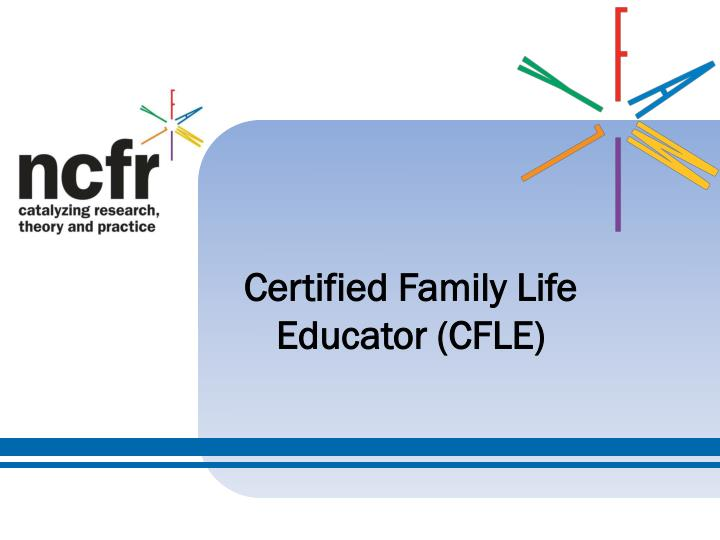 certified family life educator cfle n.