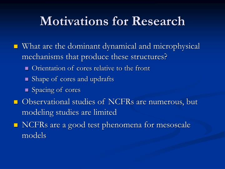 Motivations for research