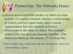 partnership the nebraska dance