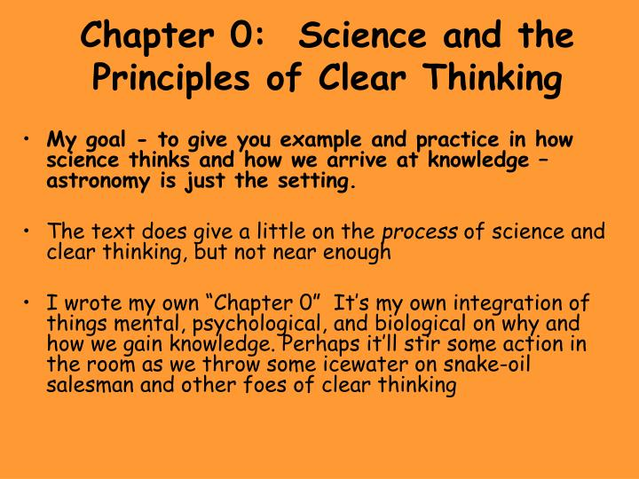 chapter 0 science and the principles of clear thinking n.