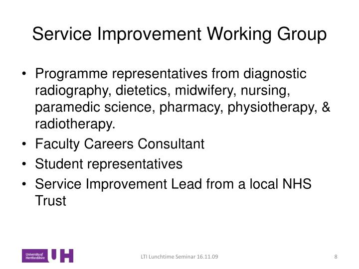 Service Improvement Working Group