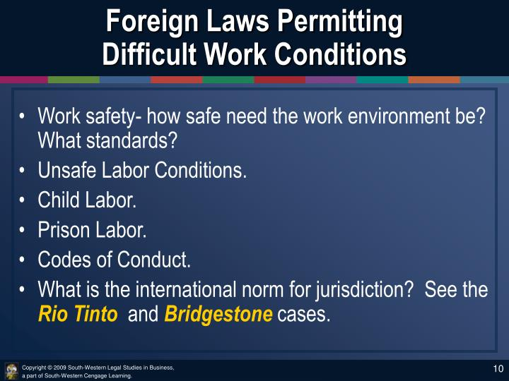 Foreign Laws Permitting