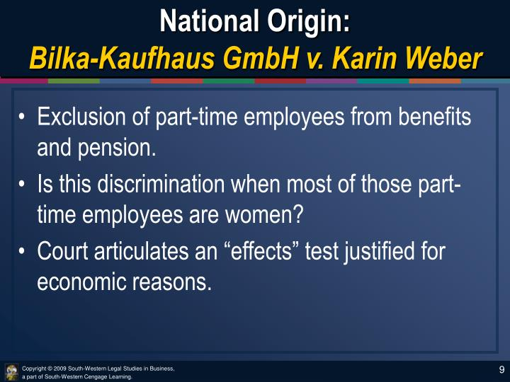 National Origin:
