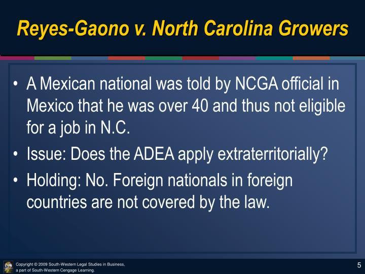 Reyes-Gaono v. North Carolina Growers