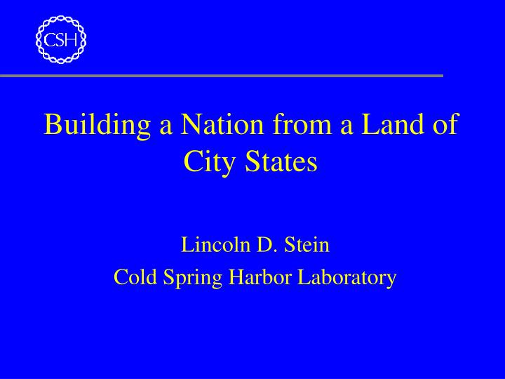 building a nation from a land of city states n.