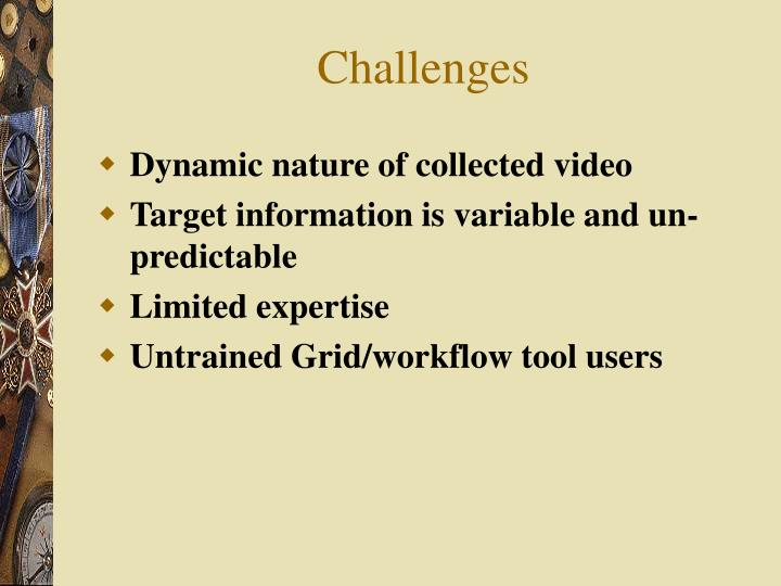 Dynamic nature of collected video