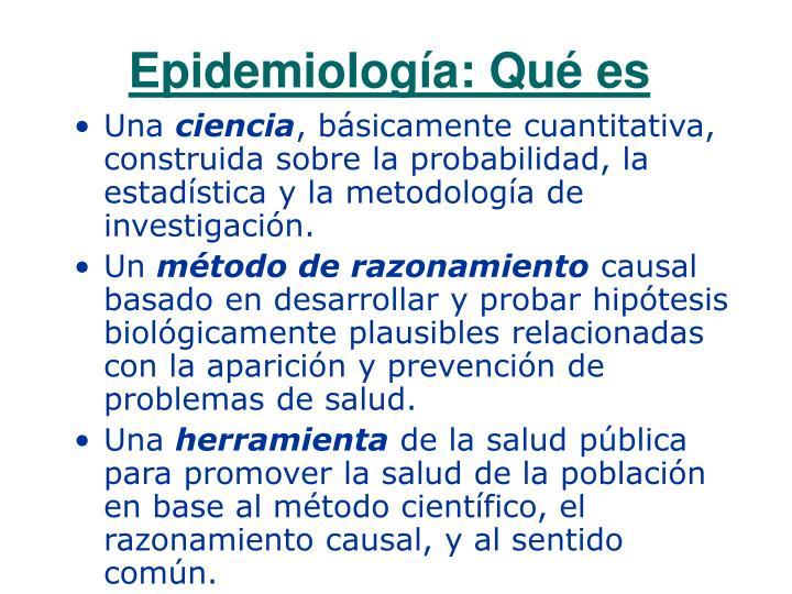 Epidemiología: Qué es