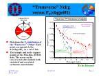 transverse nchg versus p t chgjet 11