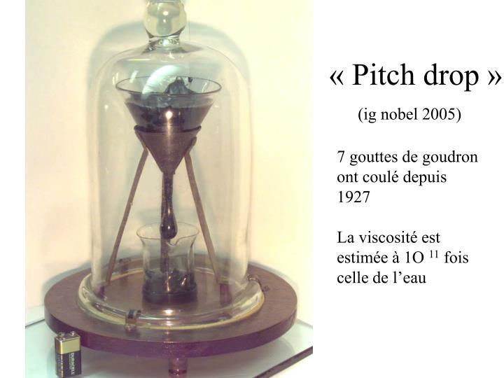 «Pitch drop»