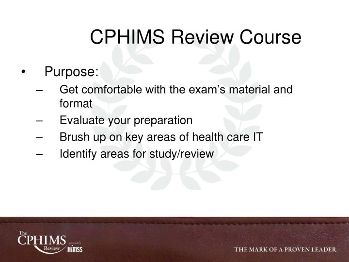 Ppt Cphims Review Course Powerpoint Presentation Id4410410