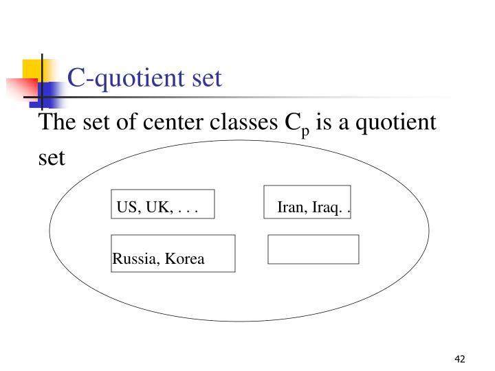 C-quotient set