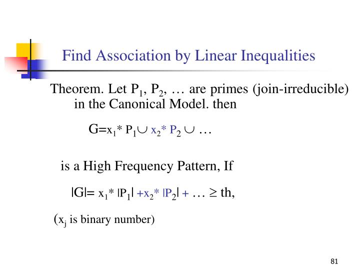 Find Association by Linear Inequalities