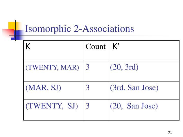 Isomorphic 2-Associations