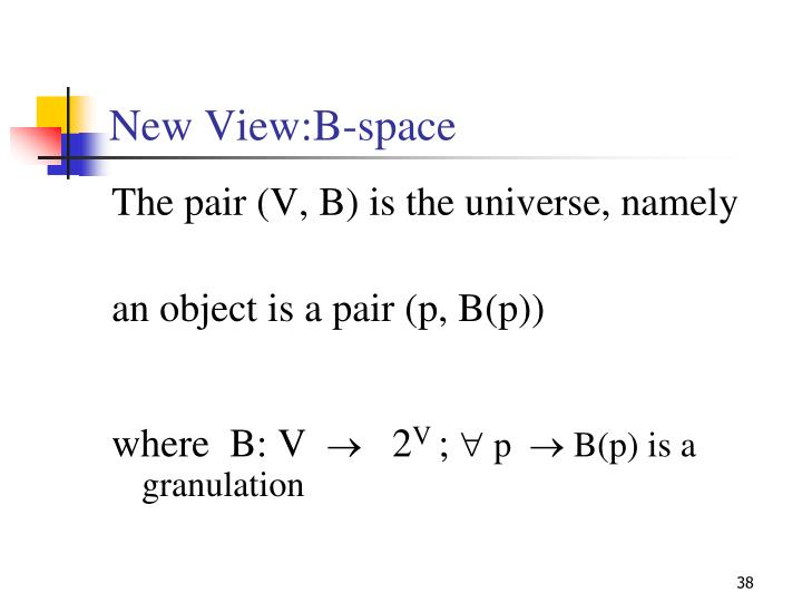 New View:B-space