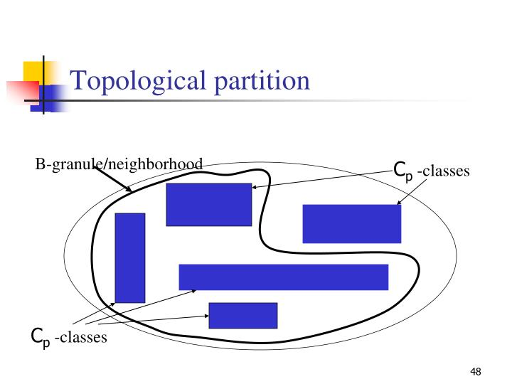 Topological partition