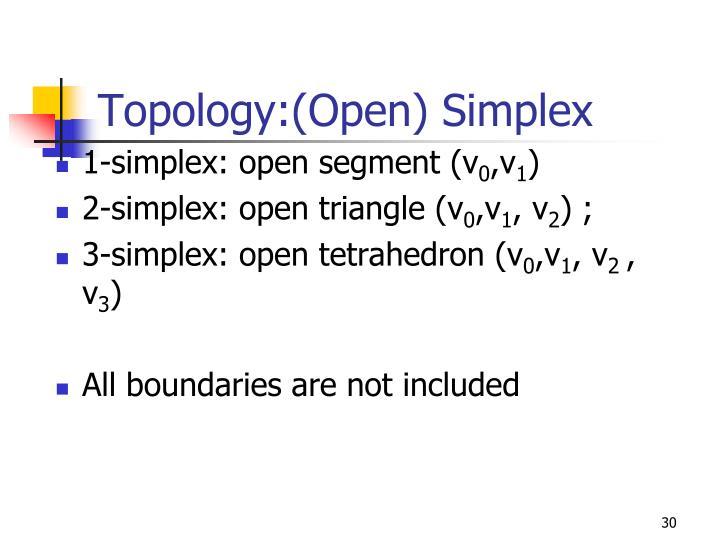 Topology:(Open) Simplex